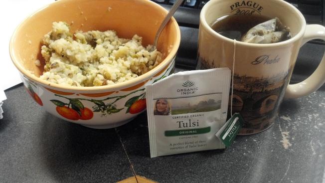Homemade Kitchari/Kitcheree & Tulsi (Holy Basil) Tea